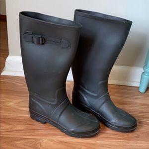 Marc Jacobs black rain boots. Size 8 (38 UK)